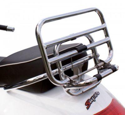 Klappgepäckträger chrom hinten für Piaggio Vespa GTS Super