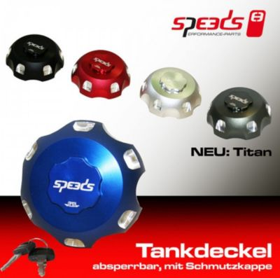 Speeds Quad Tankdeckel 2 silber Herkules, Kymco...