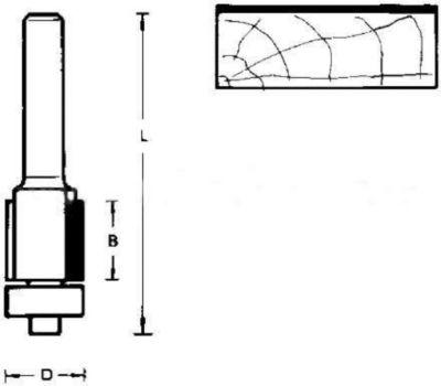 Hitachi HM-Fräser mit Kugellager 12 7 x 63mm | Baumarkt > Werkzeug > Fräsen und Schleifer | Hitachi