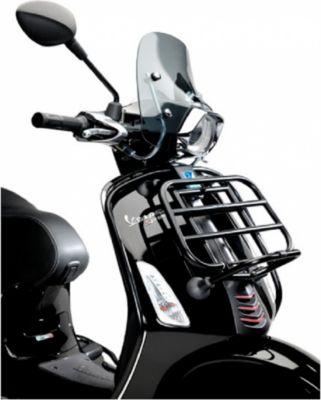 Original Vespa vorderer Gepäckträger für Primavera, Sprint in schwarz