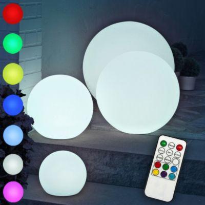 multifunktionale LED Gartenleuchte Kugelleuchte, in versch. Größen