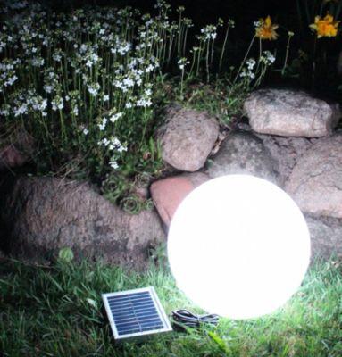 multifunktionale solar LED Gartenleuchte Kugelleuchte 25cm