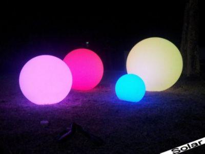 multifunktionale solar LED Gartenleuchte Kugelleuchte 35cm