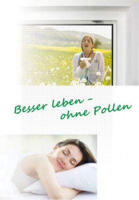1PLUS 4er Set  Insektenschutzgewebe / Pollenschutzgewebe 110 x 130 cm