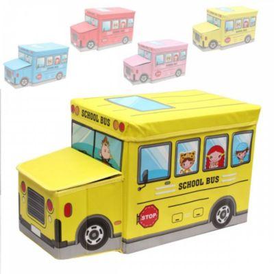 1PLUS faltbarer Kinderhocker Kinderbank Aufbewahrungsbox Spielzeugkiste, 55 x 25 x 33 cm, in verschiedenen Farben gelb