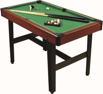 1PLUS 4ft Billiardtisch incl. 2 Queue, Kugelset...