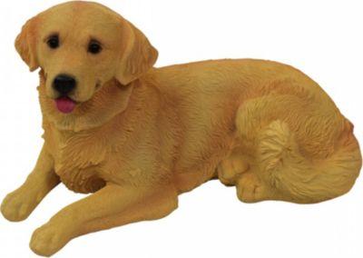1PLUS  Polyresin Gartenfigur Hund Gartendekoration Größe ( B x H x T): ca. 28 x 14 x 14,5 cm