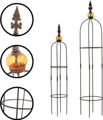 """1PLUS  Obelisken Set """"Allgold"""", 2 Stück, Höhe: 80 cm und 100 cm, in versch. Farben"""