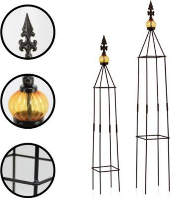 """1PLUS  Obelisken Set """"Lambert"""", 2 Stück, Höhe: 80,5 und 100 cm, in versch. Farben"""