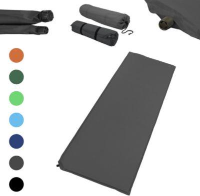 Outdoor Isomatte, selbstaufblasend, ca. 2 m Länge, inkl. Flick Set - selbstaufblasbare Luftmatratze geeignet zum Camping und fürs Zelt mit kleinem... Outdoor Isomatte, selbstaufblasend, ca. 2 m Länge / 3 cm Stärke, inkl. Flick Set - Farbe:Grau