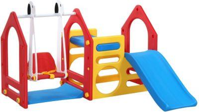 Kinder Spielhaus Rutsche + Schaukel EPR-KS-104