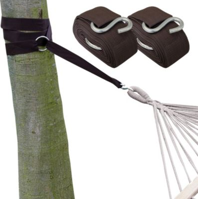 Hängematten Befestigung Set braunes Band | Garten > Hängematten | eyepower