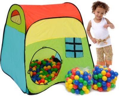 Kinderzelt Milo mit 200 Bällebadbällen