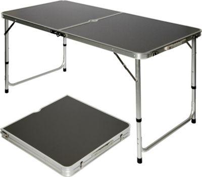 Klappbarer stabiler Campingtisch 120x60x70cm höhenverstellbar tragbar Kofferformat Aluminium