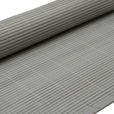 eyepower PVC Sichtschutzmatte 120 x 500 cm Grau