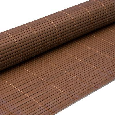 PVC Sichtschutzmatte 90 x 400 cm Dunkelbraun