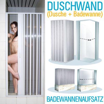 Eckduschwand Eck-Duschkabine 86-90 x 86-90 cm Duschabtrennung Faltwand Duschtür