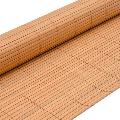 PVC Sichtschutzmatte 90 x 300 cm Hellbraun