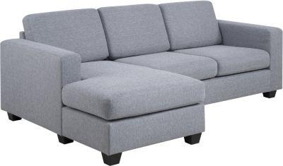 Eckcouch grau Couch Chaiselounge Ecksofa Wohnlandschaft Wohnzimmer