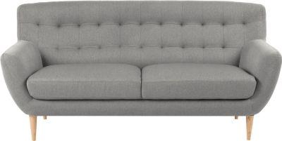 Sofa 3-Sitzer in grau Couch Wohnzimmer Dreisitzer Polster Möbel