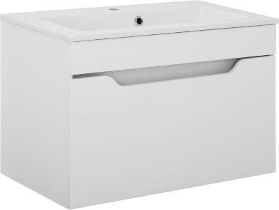 Waschbeckenunterschrank LILI in weiß hochglanz