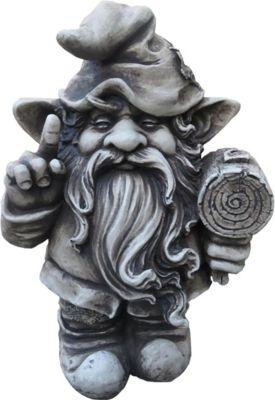 Gartenfigur Troll Zwerg Steinfiguren Garten Figur Wicht Gnom Deko Teichfigur | Garten > Dekoration > Dekofiguren | Stein | Garden Pleasure