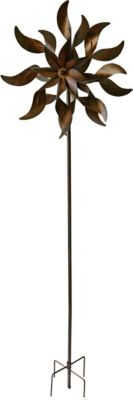 Metall Deko Windrad Windspeil Erdspeiß Rost Antik Optik 178cm Garten Windmühle | Garten > Dekoration > Windräder | Garden Pleasure