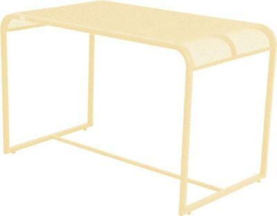 Metall Balkontisch 110x63 Beistelltisch Garten Balkon Terrasse Tisch gelb | Garten > Balkon > Balkontische | Gelb | Garden Pleasure