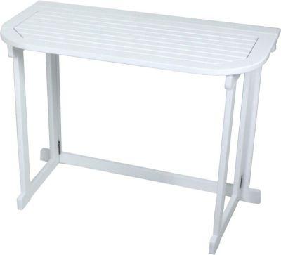 Balkon Tisch Klappbar Garten Esstisch Möbel Eukalyptus Holz Weiß