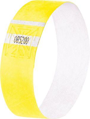 120x Sigel Eventbänder Super Soft EB218 Kontrollbänder Einlassbänder gelb