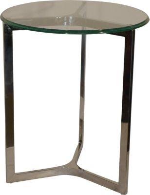 Badly Bitten Beistelltisch Pompidou Ø 50 Wohnzimmer Sofa Couch Tisch verchromt