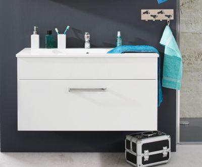 Waschbecken Unterschrank Adamo Weiß Hochglanz Badezimmer Bad Waschbecken  Schrank