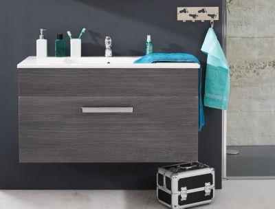 Waschbecken Unterschrank Adamo Rauchsilber Badezimmer Bad Waschbecken Schrank