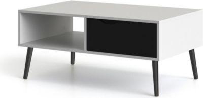 Couchtisch NAPOLI Wohnzimmertisch Beistelltisch Tisch Wohnzimmer Schwarz/ Weiß