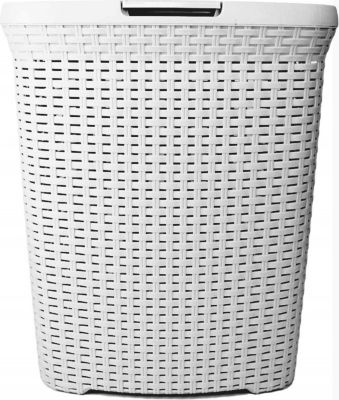 XL Hoffmanns Wäschetruhe Wäschebox Wäschekorb Wäschesammler Korb Rattan Optik