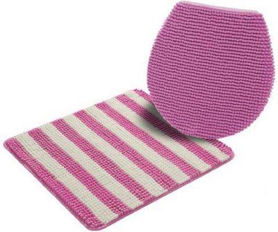 Iris Bad Set 2 tlg Hänge WC Pink