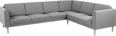 Eckcouch COPE in hellgrau Couch Möbel Wohnlandschaft Ecksofa Wohnzimmer
