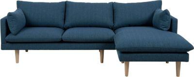 Eckcouch SAMANTA in blau Couch Möbel Wohnlandschaft Ecksofa Wohnzimmer