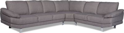 Eckcouch SWAN in grau Couch Möbel Wohnlandschaft Ecksofa Wohnzimmer