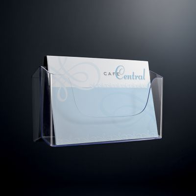 Wandprospekthalter A4 quer LH118 Prospektständer Flyerhalter Acryl