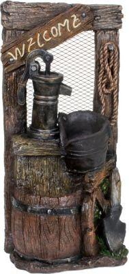 Brunnen Holz Stein Optik Wasserspiel Springbrunnen Kaskaden Dekobrunnen Garten | Garten > Brunnen | Holz - Stein | Garden Pleasure