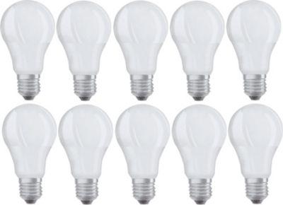 10x Osram LED Base Classic Lampe Set E27 A+ Leu...