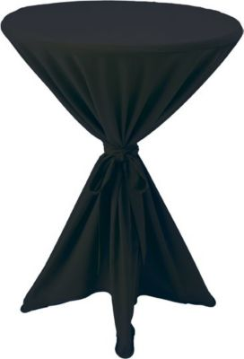 Husse für Stehtische Ø 80-90cm - Schwarz