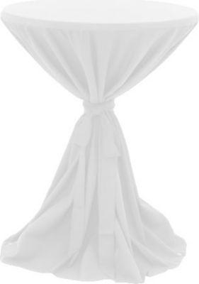 Husse für Stehtische Ø 80-90cm - Weiß