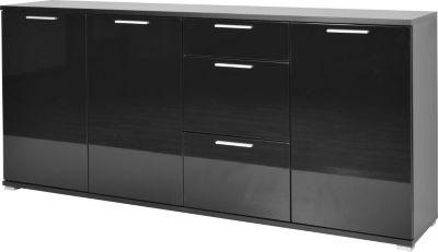 kommode schwarz hochglanz preisvergleich die besten. Black Bedroom Furniture Sets. Home Design Ideas