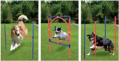 12tlg. Hunde Agility Starter Set Sport Hürden Slalom Stangen Ring Training