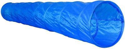 PopUp Spieltunnel blau 3m + Frisbee Scheibe Hunde Agility Training Hundesport - Preisvergleich