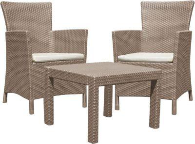 Lounge Sitzgruppe Miami´´ Garnitur Garten Möbel Set Essgruppe Rattan Optik´´