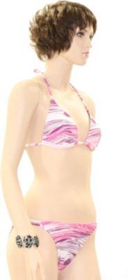 eleMar Trend Bikini Tankini Badeanzug Schwimmanzug Bademode Bügel Push Up Sommer Elemar Bikini ´´Tanja´´ azalee / weiß / rosa Gr.42