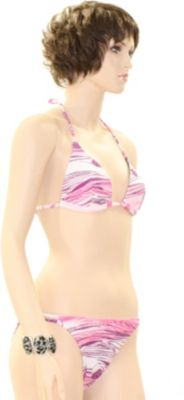 eleMar Trend Bikini Tankini Badeanzug Schwimmanzug Bademode Bügel Push Up Sommer Elemar Bikini ´´Tanja´´ azalee / weiß / rosa Gr.40